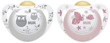 Pacifier Genius Color La, Grey/Rose