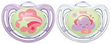 Pacifier Freestyle Night & Day Silicon Pink