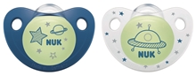 Pacifier Night&Day Si, Blue/White