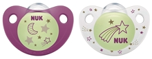 Pacifier Night&Day Si, Purple/White